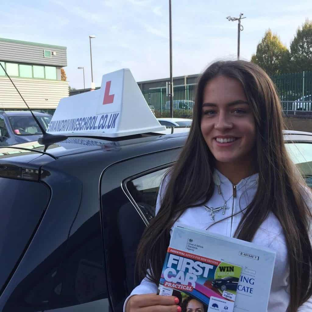 Congratulations to Grace Mckay from Sevenoaks on passing her driving test with an Automatic Driving lesson from Swan Driving School